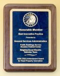 Walnut Stained Piano Finish Plaque with Brass Plate Achievement Award Trophies