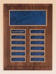 Solid American Walnut Perpetual Plaque Achievement Award Trophies