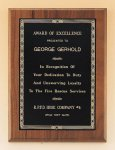 Walnut Plaque with Brass Engraving Plate Achievement Award Trophies