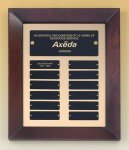 Cherry Finish Wood Frame Perpetual Plaque Achievement Award Trophies