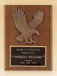 American Walnut Plaque with Eagle Casting Achievement Award Trophies