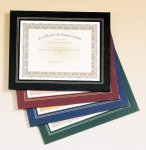 Leatherette Frame Certificate Holder Achievement Award Trophies