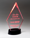Clear Acrylic Award with LED Base  - 7 Colors Achievement Awards
