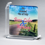 Sublimated Glass Awards Achievement Awards