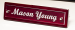 Rosewood Piano Finish Nameplate with Acrylic Engraving Plate Boss Gift Awards