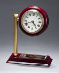 Rail Station Rosewood Piano Finish Photo Desk Clock Boss Gift Awards