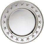 Round Plate Silver With Stars Boss Gift Awards
