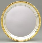 Silver Plated Tray with Gold Border Boss Gift Awards