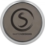 Leatherette Round Coaster with Silver Edge -Gray  Boss Gift Awards