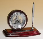 Piano-Finish Clock and Pen Set Employee Awards