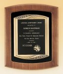 American Walnut Frame Plaque with Antique Bronze Frame Employee Awards