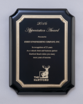 Black High Gloss Plaque Employee Awards