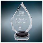 Diamond Crystal with Black/Clear Base Employee Awards