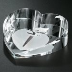 Slant Heart Paperweight Executive Gift Awards