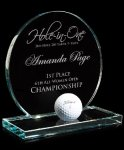 Jade Hole-In-One Golf Glass and Crystal Awards