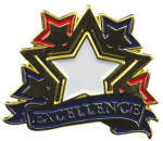 Bright Gold Educational Excellence Lapel Pin Lapel Pins