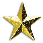 Star Chenille Letter Pin Lapel Pins
