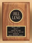 American Walnut Plaque with Routed Disk Area Marble Awards