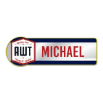 Rectangle with Rounded Side Metal Name Badges  Name Badges | Plates