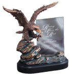 Eagle On Rock With Glass Patriotic Awards