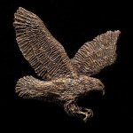 Flying Eagle Bronze Accent Patriotic Awards