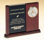 Versatile Clock Rosewood Piano Finish Desk Clock Religious Awards