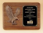 American Walnut Plaque with Eagle Casting Religious Awards