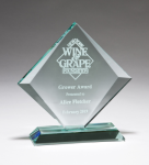 Diamond Series Thick Jade Glass Award Sales Awards