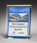 Personalize Your Glass Award with Four-Color Reproduction. Sales Awards