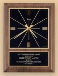 American Walnut Vertical Wall Clock with Square Face. Sales Awards