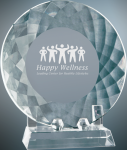 Crystal Plate with Base Sales Awards