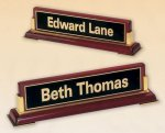 Rosewood Piano Finish Nameplate Secretary Gift Awards
