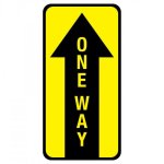 Pre-Made One Way Floor Graphic Signs   Banners